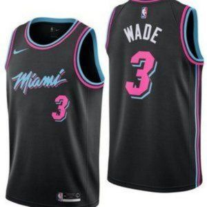 Miami Heat Dwyane Wade Black City Edition Jersey